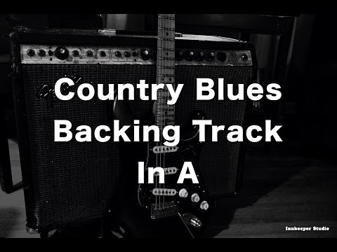 Country Blues Backing Track in A - 100 Bpm