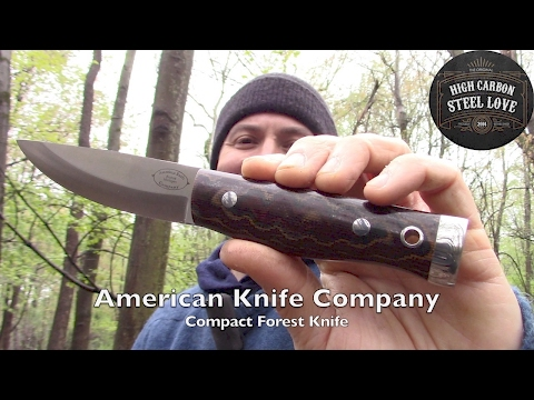 American Knife Company: Compact Forest Knife - Beautiful And Outstanding - HighCarbonSteel Love