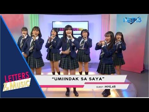 MNL48  UMIINDAK NA SAYA NET25 LETTERS AND MUSIC
