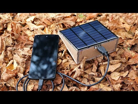 DIY - How To Make Solar Power Bank from Cardboard - Best Genius Ideas