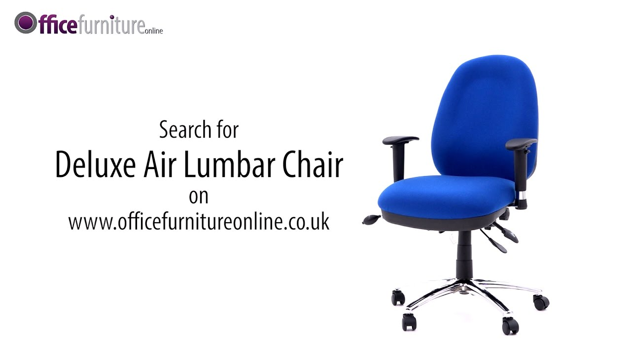Deluxe Air Lumbar   Large Fully Loaded Operator Chair With Posture Sprung  Seat Assembly Guide