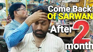 ASMR head massage with neck cracking by indianbarber Sarwan .