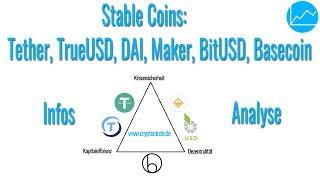 Stable Coins: Segen oder Gefahr? Tether (USDT), TrueUSD, DAI & Maker, BitUSD, Basecoin (Teil 1/2)