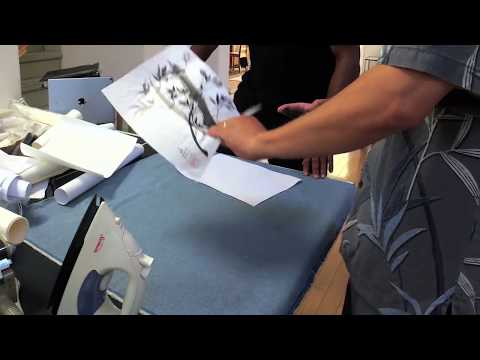 Silicone paper dry mounting demo with Vincent