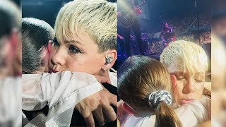 Pink Stops Concert To Hug Grieving Teen After Reading Sign Tha…