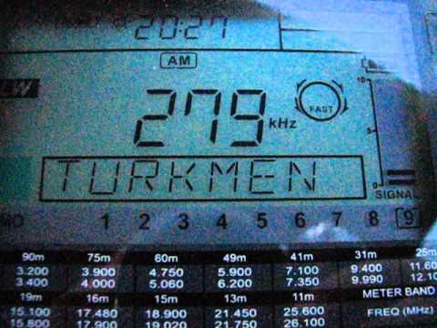 LW: Turkmen Radio 1 279 KHz Aşgabat, Turkmenistan 2013-04-26