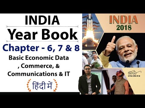 India Yearbook 2018 - Chapter 6, 7 & 8  Commerce, IT, Communications  - Expected Questions in Hindi
