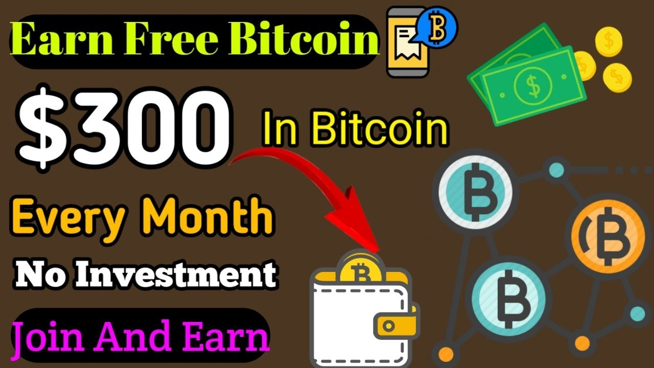 Earn 300 In Bitcoin Every Month New Free Bitcoin Mining Site -