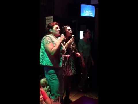 Karaoke night at Saffron's