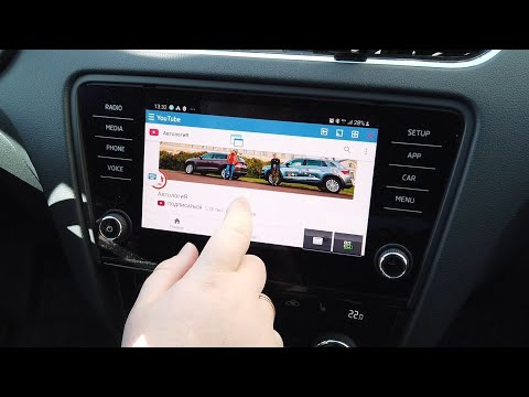 Mirrorlink в SKODA OCTAVIA с Samsung Galaxy S8
