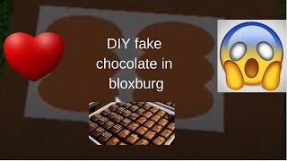 DIY fake chocolate on roblox bloxburg || Amanda starlight