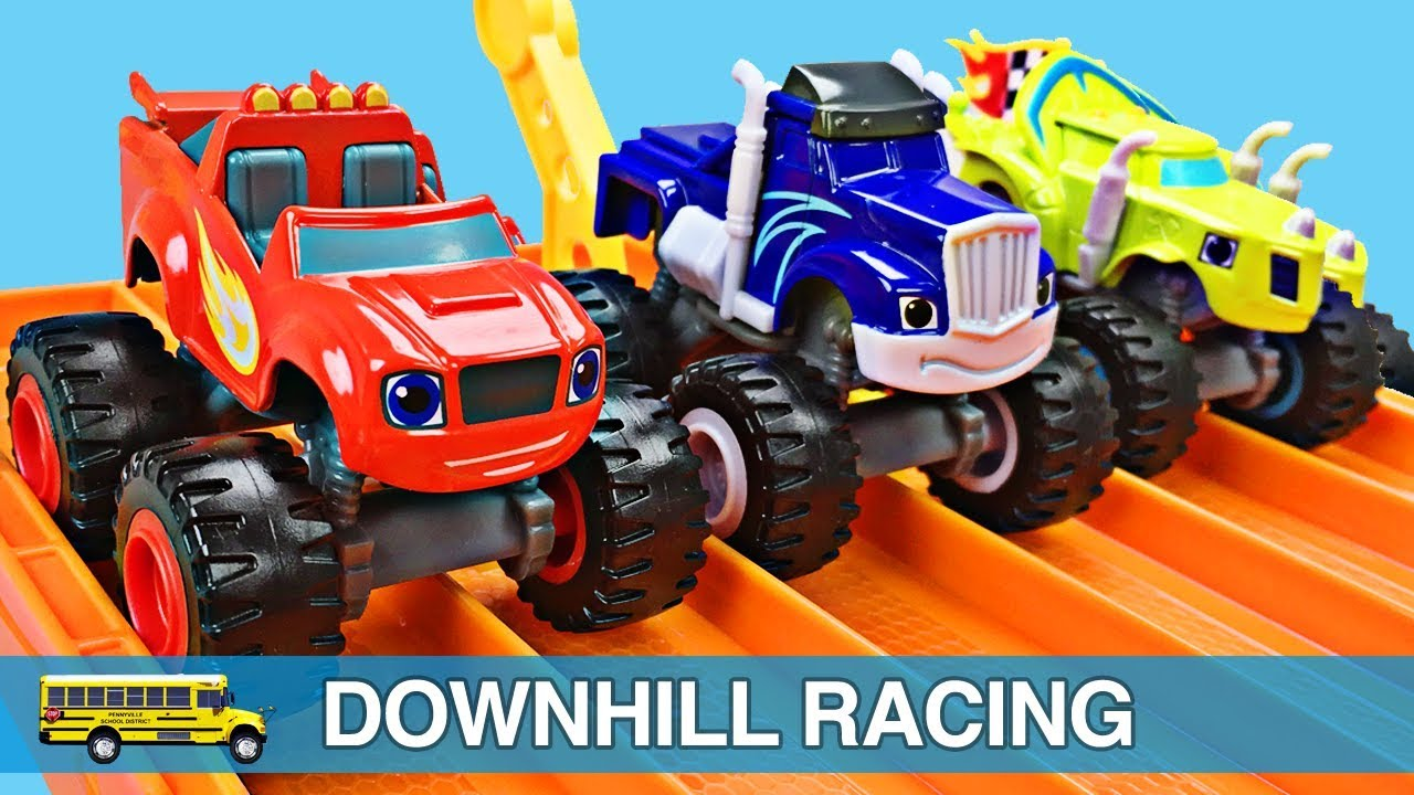 Monster Trucks For Kids Blaze And The Monster Machines Racing For