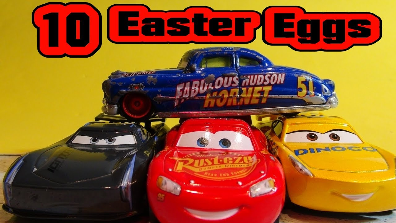 pixar cars 3 easter eggs our top 10 list with 95 lightning mcqueen and jackson storm youtube. Black Bedroom Furniture Sets. Home Design Ideas