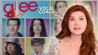 Vocal coach reacts to GLEE