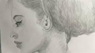Artbyevangelos.com pencil sketch drawing of legendary actress Brigitte Bardot