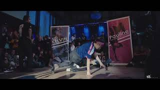 Bgirl Pauline Vs Bboy Kelvin Rain Spring Jam 2018 | Exhibition Battle