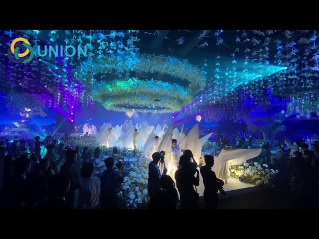 Lộng lẫy hào nhoáng với sân khấu trang trí bằng màn nước nghệ thuật | UNION JSCO