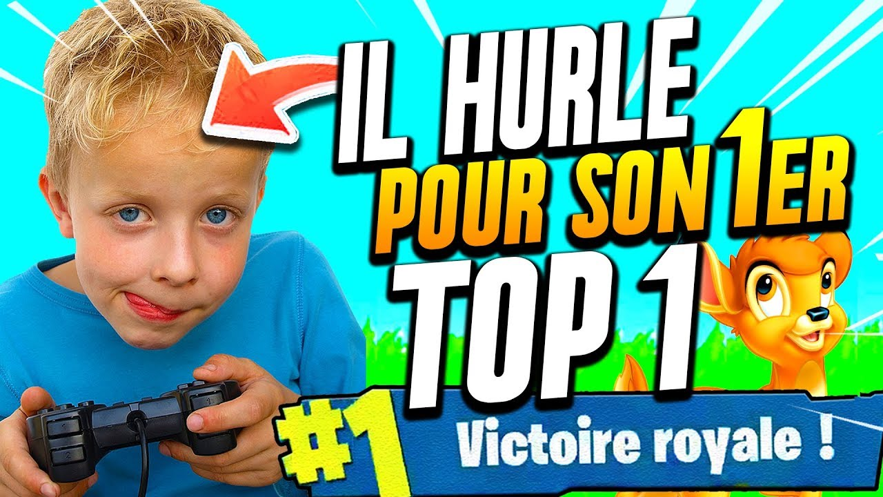 CET ENFANT CRIE POUR SON 1er TOP 1 ►FORTNITE BATTLE ROYALE
