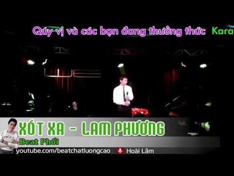 KaraOke Xót Xa |  Hoài Lâm | Full Beat Chuẩn |