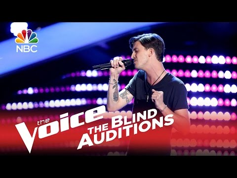 "The Voice us season9 2015 Blind Audition - Chase Kerby: ""The Scientist"""