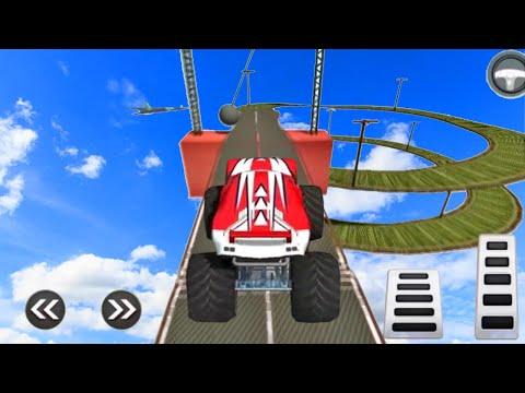 Juegos De Carros Para Niños - Impossible Monster Stunts - Autos De Carreras
