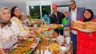 فطور 12 رمضان 🤔 شوفو العرايسات الحادكات وعلى رجالهم وبيوتهم محافظات