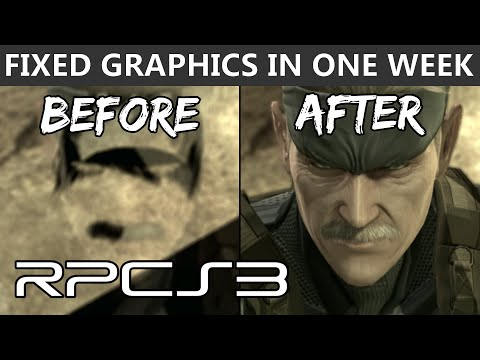 RPCS3 - Metal Gear Solid 4 graphics fixed in one week! (4k Gameplay)