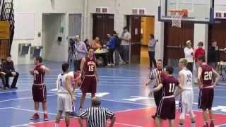 Sheehan vs Waterford - High School Boys Playoff Basketball - 1st Half Video Highlights - 3-11-15