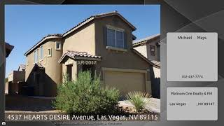 4537 HEARTS DESIRE Avenue, Las Vegas, NV 89115