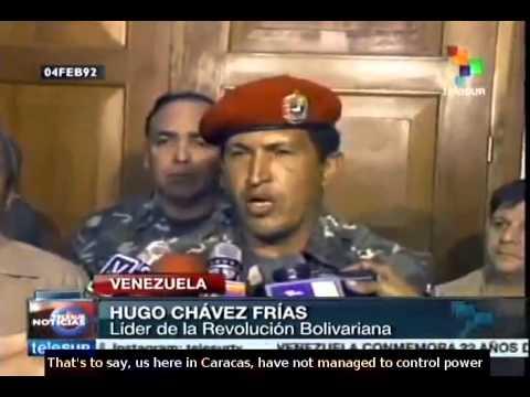 Venezuela recalls revolutionary acts of February 4, 1992 - YouTube