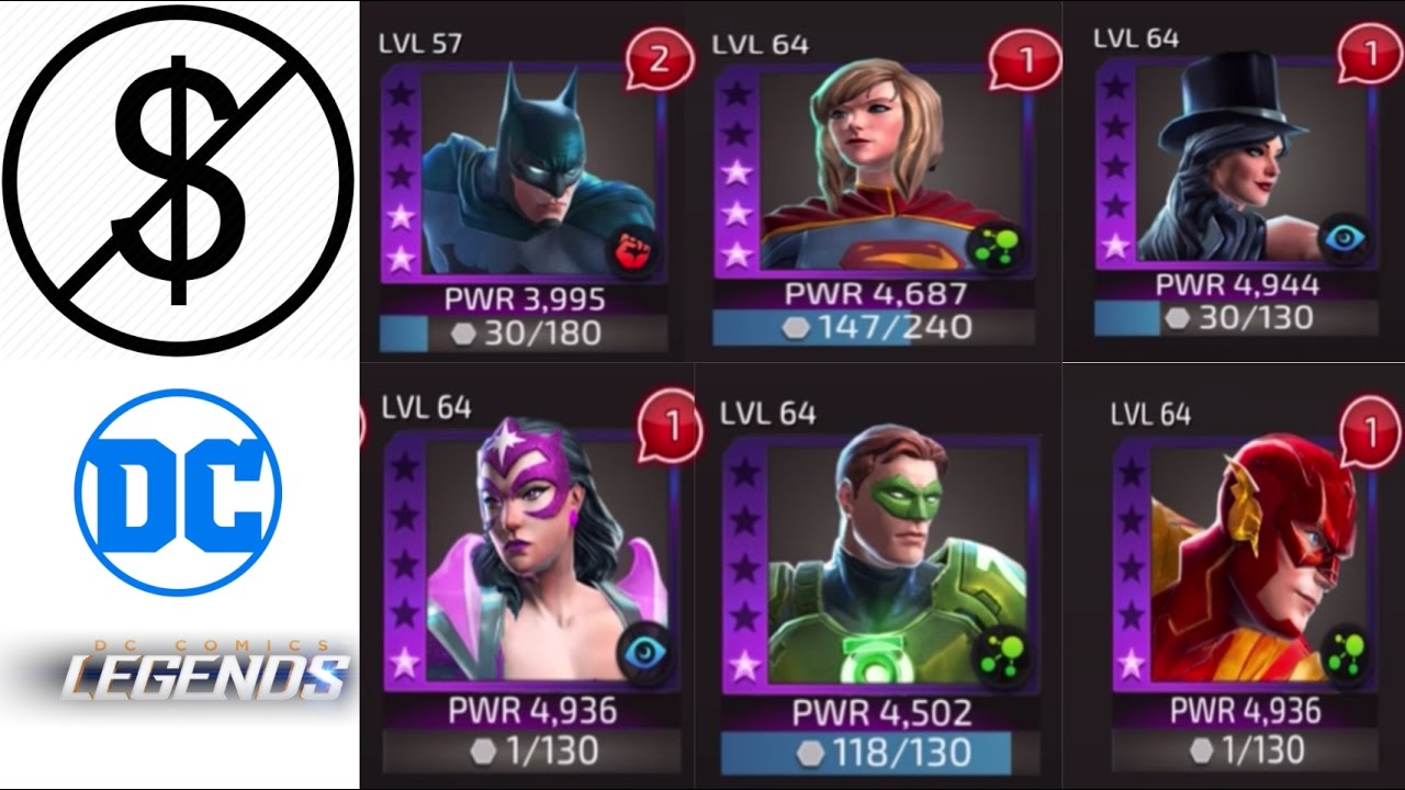 DC LEGENDS: Best way to GET 4 AND 5 STAR CHARACTERS FOR FREE!
