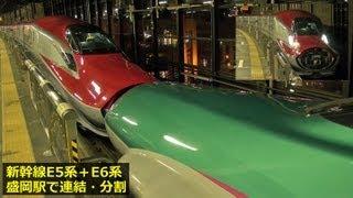 新幹線E5系・E6系『はやぶさ・スーパーこまち』 ~盛岡駅で連結・分割~