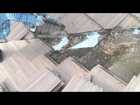 HOW TO fix a leaky valley , water leak, tile repair, permanent tile repair, DO IT YOURSELF.