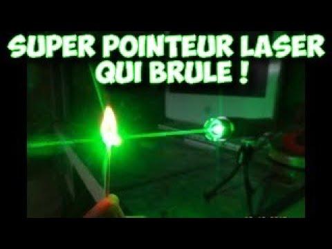 Pointeur laser très puissant,pointeur laser vert 500mw (qui brule ...