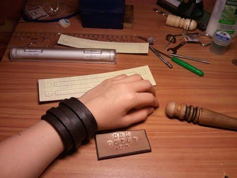Стильный браслет из кожи своими руками-2.КДМ Булат.