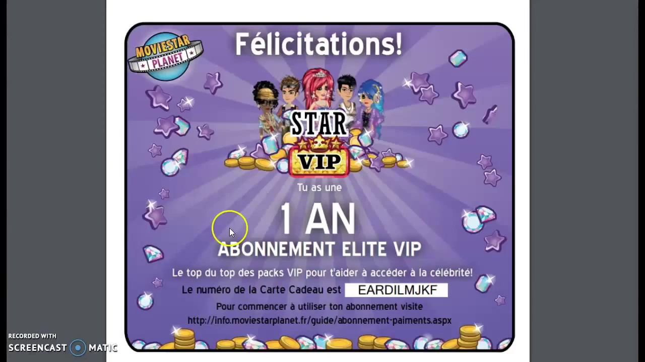 Donne Carte Cadeau Vip 1 Ans Youtube