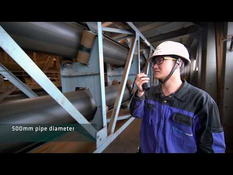 6.6 km long Pipe Conveyor for the Transport of Iron Ore