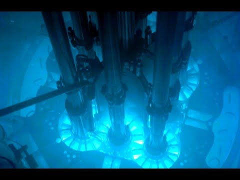 Bizarre Radioactive fluorescence inside the nuclear reactor
