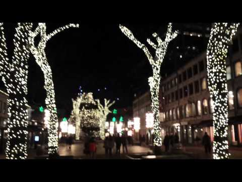 Holiday Light Show at Faneuil Hall in Boston