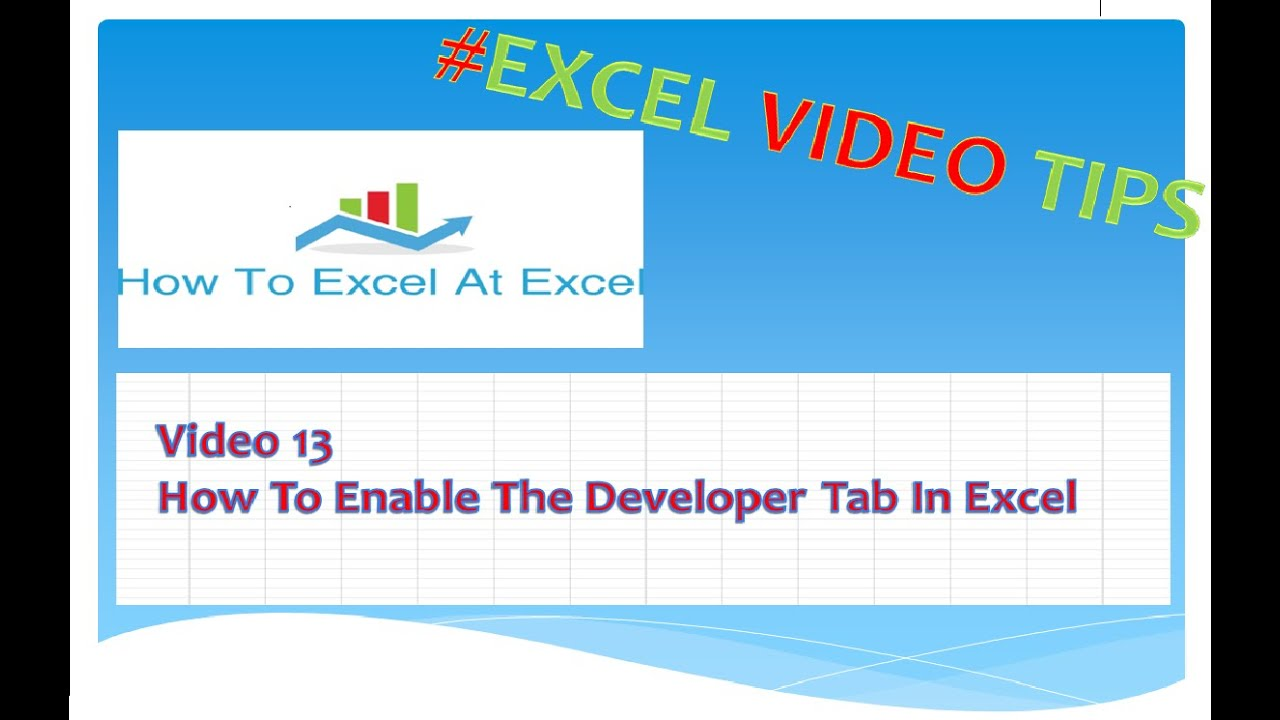 how to add developer tab in excel mac
