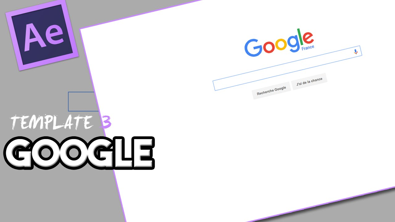 after effects template 3 logo google youtube