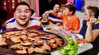 SAMGYUPSAL MUKBANG AT HOME (DINNER FOR MOTHER'S DAY) | LC VLOGS #348