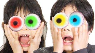 目玉グミで激マズチャレンジ! 【大食い】EyeBalls Gummy Challenge!