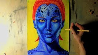 How I Draw Mystique (Jennifer Lawrence) from X-Men: Days of Future Past