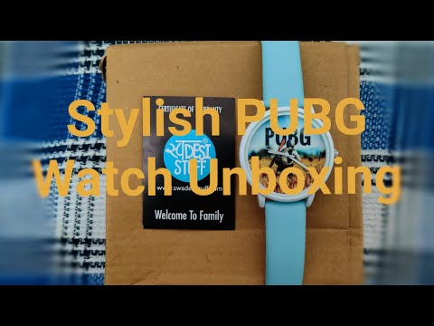 Stylish PUBG Watch Unboxing