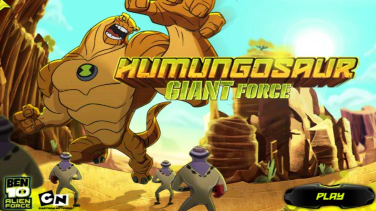 Ben 10 Humungousaur Giant Force-Cartoon Network Game - YouTube