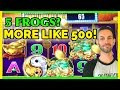 5 Frogs? 🐸More Like 500! 🎰LINE IT UP, I'm Feelin' Froggy! 😏 #BrianGambles