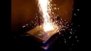 Welding Blanket - Fire Blanket Fabric Spark Testing