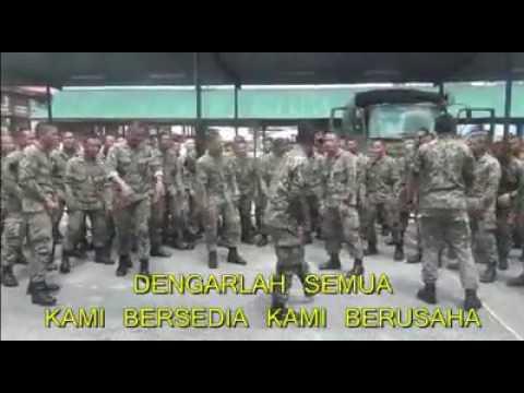 Bila abang askar ramai ramai menyanyi.