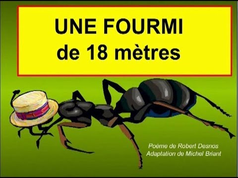 Une fourmi de 18m youtube - Dessin de fourmi ...